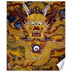 Chinese Dragon Pattern Canvas 8  X 10  by Amaryn4rt