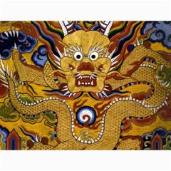 Chinese Dragon Pattern Canvas 36  X 48   by Amaryn4rt