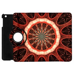 Circle Pattern Apple Ipad Mini Flip 360 Case by Amaryn4rt