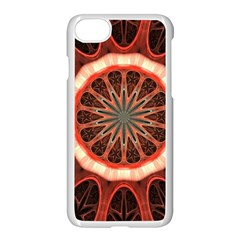 Circle Pattern Apple Iphone 7 Seamless Case (white) by Amaryn4rt