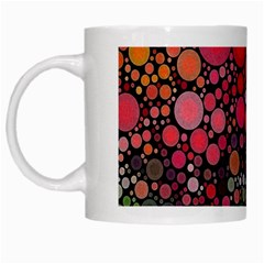 Circle Abstract White Mugs by Amaryn4rt