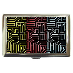 Circuit Board Seamless Patterns Set Cigarette Money Cases