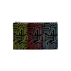 Circuit Board Seamless Patterns Set Cosmetic Bag (small)  by Amaryn4rt