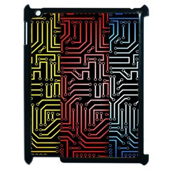 Circuit Board Seamless Patterns Set Apple Ipad 2 Case (black) by Amaryn4rt