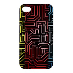 Circuit Board Seamless Patterns Set Apple Iphone 4/4s Hardshell Case