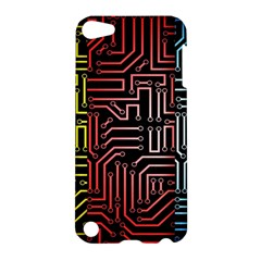 Circuit Board Seamless Patterns Set Apple Ipod Touch 5 Hardshell Case by Amaryn4rt