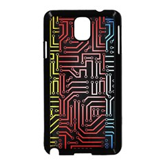 Circuit Board Seamless Patterns Set Samsung Galaxy Note 3 Neo Hardshell Case (black) by Amaryn4rt