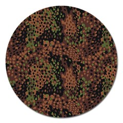 Digital Camouflage Magnet 5  (round) by Amaryn4rt