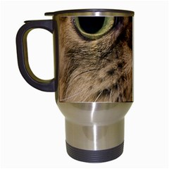 Cute Persian Cat Face In Closeup Travel Mugs (white) by Amaryn4rt
