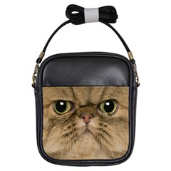 Cute Persian Cat Face In Closeup Girls Sling Bags by Amaryn4rt