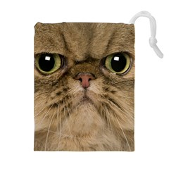 Cute Persian Cat Face In Closeup Drawstring Pouches (extra Large) by Amaryn4rt
