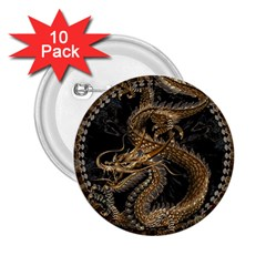 Dragon Pentagram 2 25  Buttons (10 Pack)  by Amaryn4rt