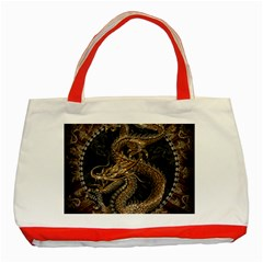 Dragon Pentagram Classic Tote Bag (red) by Amaryn4rt
