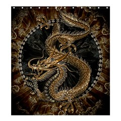 Dragon Pentagram Shower Curtain 66  X 72  (large)  by Amaryn4rt