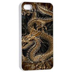 Dragon Pentagram Apple Iphone 4/4s Seamless Case (white) by Amaryn4rt