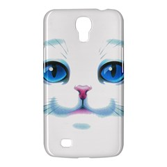 Cute White Cat Blue Eyes Face Samsung Galaxy Mega 6 3  I9200 Hardshell Case