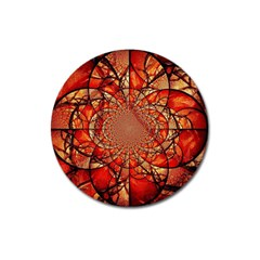 Dreamcatcher Stained Glass Magnet 3  (round) by Amaryn4rt
