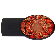Dreamcatcher Stained Glass Usb Flash Drive Oval (4 Gb) by Amaryn4rt