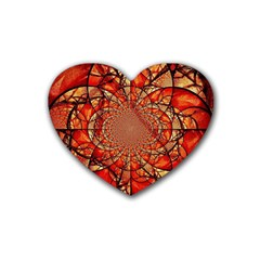 Dreamcatcher Stained Glass Heart Coaster (4 Pack)  by Amaryn4rt