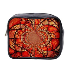 Dreamcatcher Stained Glass Mini Toiletries Bag 2 Side by Amaryn4rt