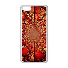 Dreamcatcher Stained Glass Apple Iphone 5c Seamless Case (white) by Amaryn4rt