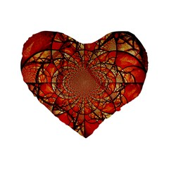 Dreamcatcher Stained Glass Standard 16  Premium Flano Heart Shape Cushions by Amaryn4rt