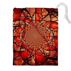 Dreamcatcher Stained Glass Drawstring Pouches (xxl) by Amaryn4rt