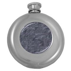 Excellent Seamless Slate Stone Floor Texture Round Hip Flask (5 Oz) by Amaryn4rt