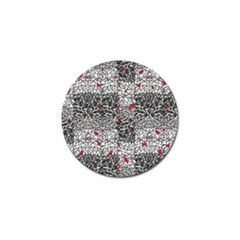 Sribble Plaid Golf Ball Marker by Amaryn4rt