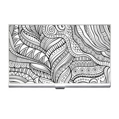 Zentangle Art Patterns Business Card Holders by Amaryn4rt