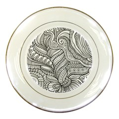 Zentangle Art Patterns Porcelain Plates