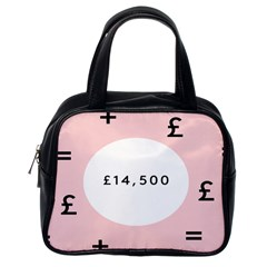 Added Less Equal With Pink White Classic Handbags (one Side) by Alisyart