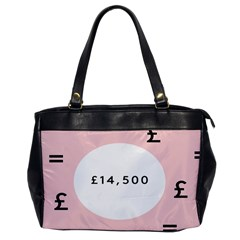 Added Less Equal With Pink White Office Handbags