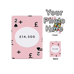 Added Less Equal With Pink White Playing Cards 54 (mini)  by Alisyart