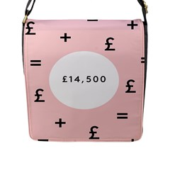 Added Less Equal With Pink White Flap Messenger Bag (l)