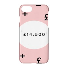 Added Less Equal With Pink White Apple Iphone 7 Hardshell Case by Alisyart
