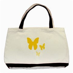 Yellow Butterfly Animals Fly Basic Tote Bag by Alisyart