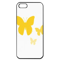 Yellow Butterfly Animals Fly Apple Iphone 5 Seamless Case (black)