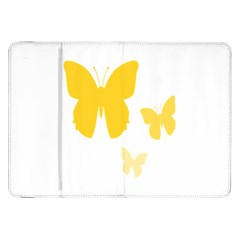 Yellow Butterfly Animals Fly Samsung Galaxy Tab 8 9  P7300 Flip Case