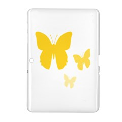 Yellow Butterfly Animals Fly Samsung Galaxy Tab 2 (10 1 ) P5100 Hardshell Case  by Alisyart