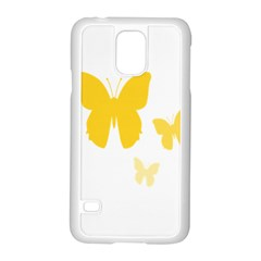 Yellow Butterfly Animals Fly Samsung Galaxy S5 Case (white)
