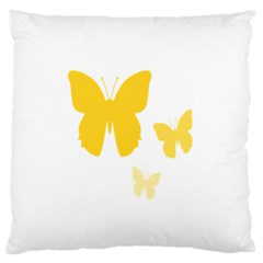 Yellow Butterfly Animals Fly Standard Flano Cushion Case (two Sides)