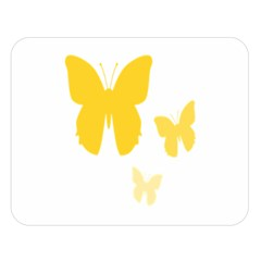 Yellow Butterfly Animals Fly Double Sided Flano Blanket (large)