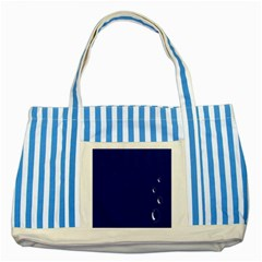 Bubbles Circle Blue Striped Blue Tote Bag by Alisyart