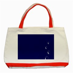 Bubbles Circle Blue Classic Tote Bag (red) by Alisyart