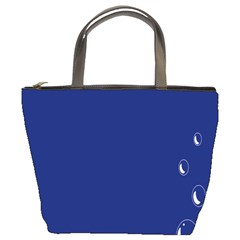 Bubbles Circle Blue Bucket Bags by Alisyart