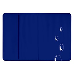 Bubbles Circle Blue Samsung Galaxy Tab 8 9  P7300 Flip Case