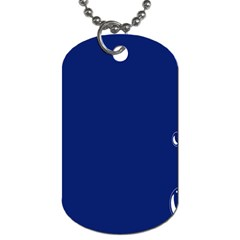Bubbles Circle Blue Dog Tag (two Sides)