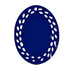 Bubbles Circle Blue Ornament (oval Filigree)