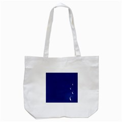 Bubbles Circle Blue Tote Bag (white)